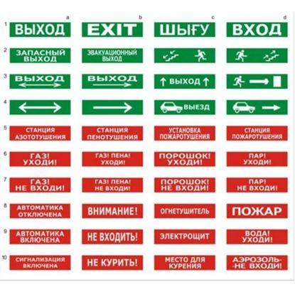 """Световой оповещатель Молния-220 РИП """"Выход"""""""