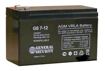 Аккумулятор General Security GS 7.2-12 (12 v, 7 Ah)